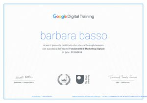 certificato digital marketing