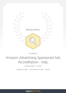 Certificazione Amazon Sponsored Ads